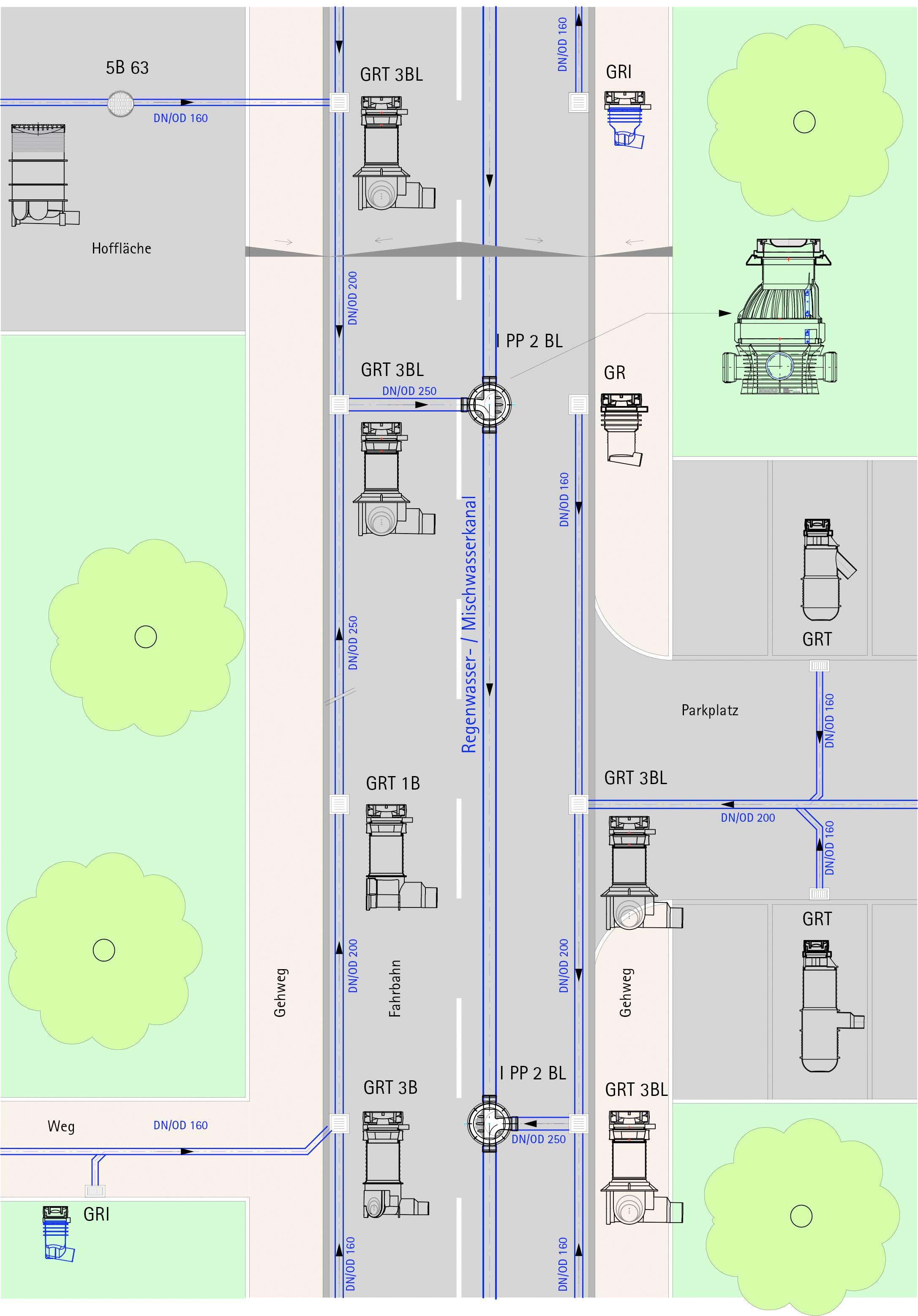 Straßenabläufe-System-Lageplan-Kurztext-2